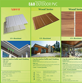 Plastic Exterior Decorative Ceiling Wall Covering Soffit