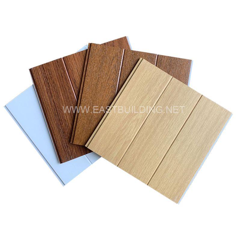 Wood grain PVC cladding