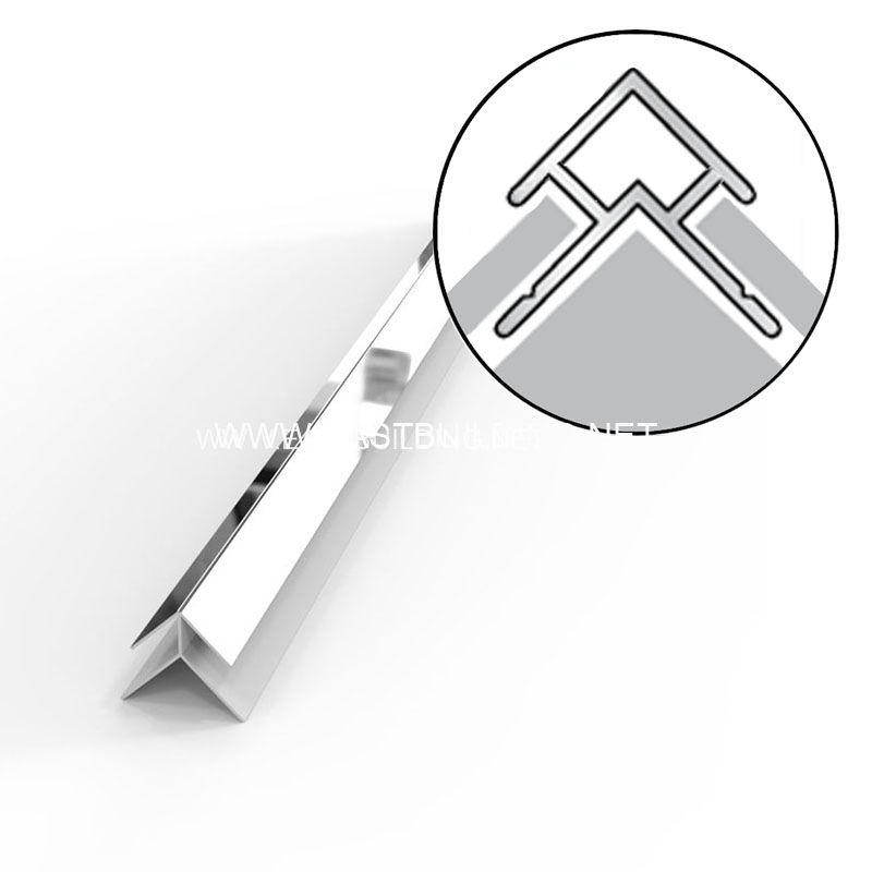 PVC silver trim